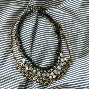 Anthropologie Jewelry - Anthropologie black and white bib necklace